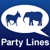 Party Lines Insert Blue