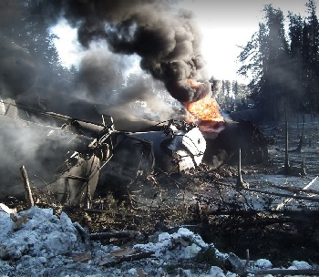 Photo of Feb. 14 Ontario derailment by Transportation Safety Board of Canada