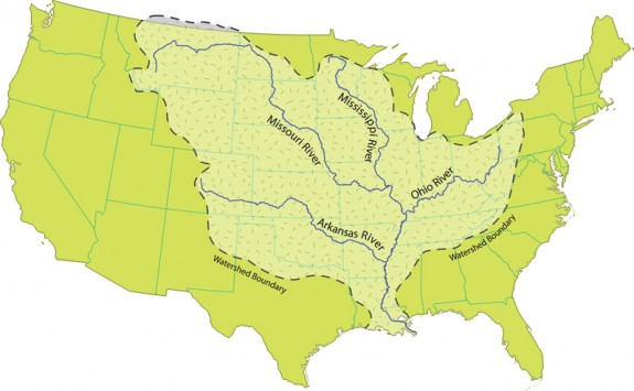 Mississippi River watershed. Credit: National Park Service