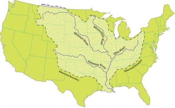 Mississippi River watershed. Credit: National Park Service