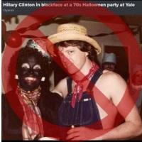 Blackface Photo Doesn't Show Clintons