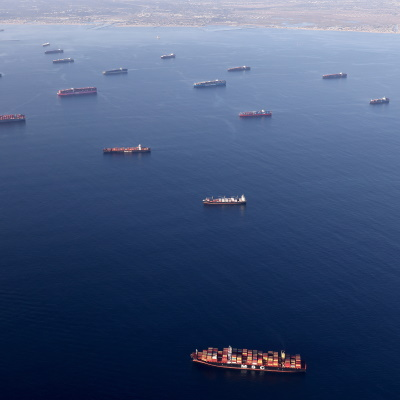 Posts Spread Baseless Claims About Cause of Cargo Ship Backups
