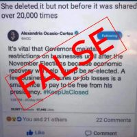 Fake AOC Tweet Politicizes COVID-19 Business Restrictions
