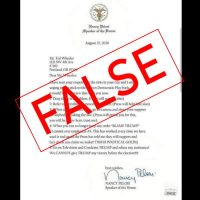 Fake Letter Attributed to Pelosi Generates Anger Online