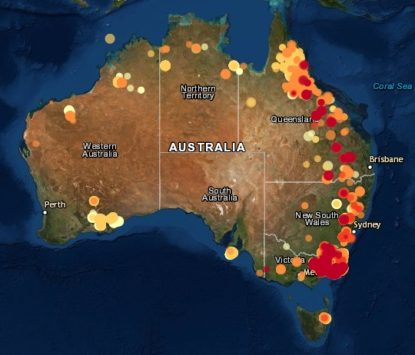 The Australian Bush Fires and Cloud Seeding Truth Revealed Fires3-415x355