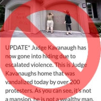 False Tale of Vandalism at Kavanaugh Home