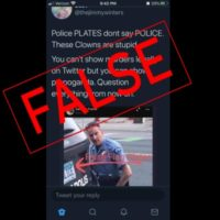 Minneapolis Police License Plate Doesn't Raise a 'False Flag'