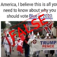 Image Altered to Show KKK Members with Trump Sign