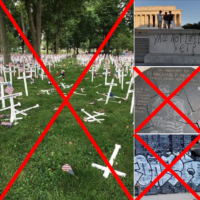 Post on Floyd Protests Uses Old Vandalism Photos