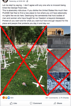 Post On Floyd Protests Uses Old Vandalism Photos Factcheck Org