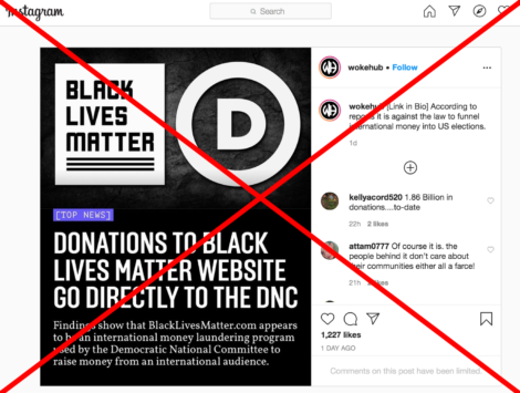 Donations To Black Lives Matter Group