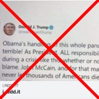 Trump Didn't Tweet In 2009 That He 'Would Never Let Thousands' Die in Pandemic