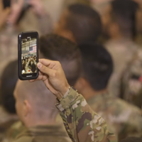 Photo of Soldiers During Trump Visit Not 'Fake'