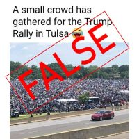 Viral Photo Misidentified as Trump Tulsa Crowd