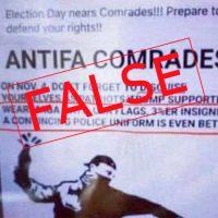 Antifa 'False Flag' Flyer Is an Old Hoax