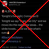 Viral Tweet 'Alert' Wasn't From Antifa