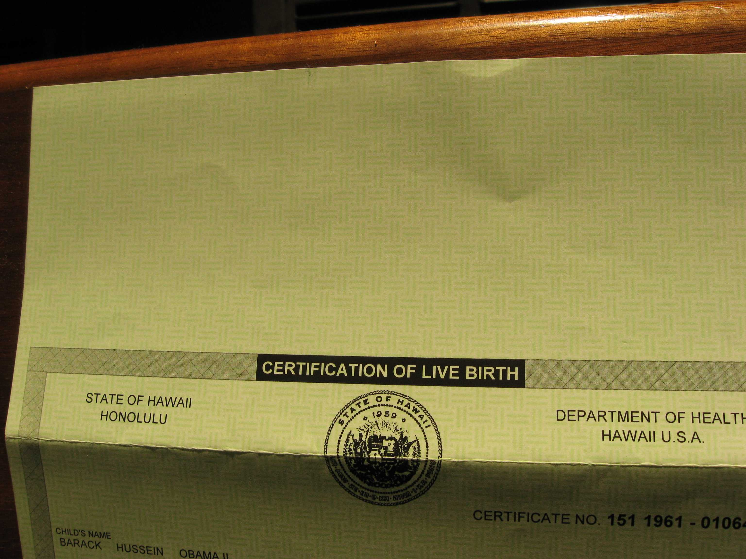 All about the birth certificates fogbow it looks like most birth documents do these days here are some from other states xflitez Choice Image