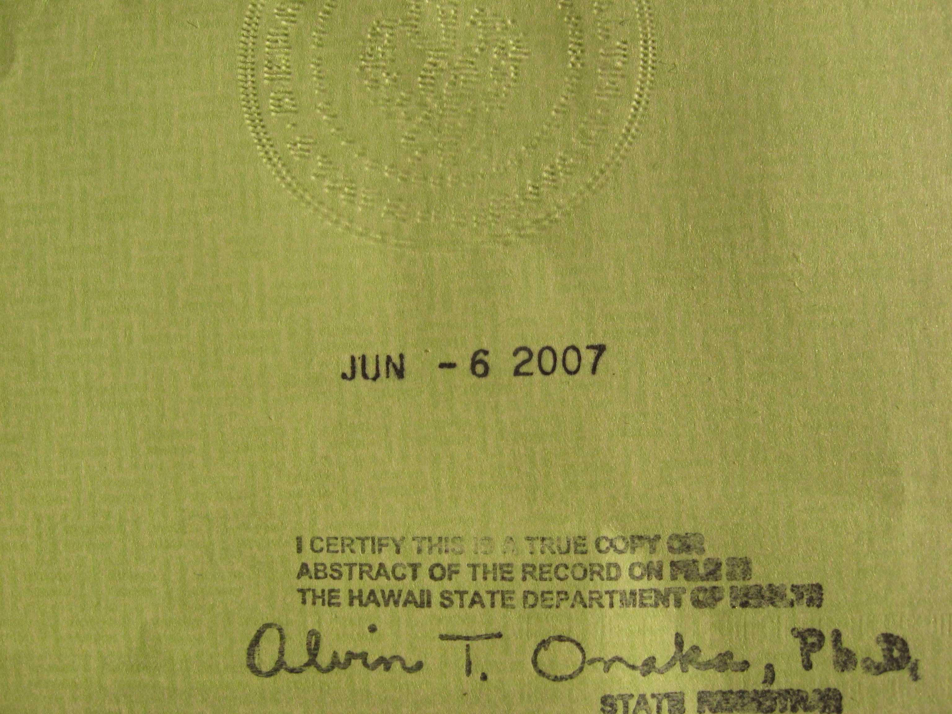 All about the birth certificates fogbow signature stamp aiddatafo Choice Image