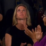 Dems Stood for Widow's Ovation