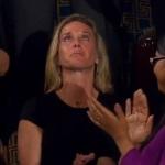 Dems Stood for Widow's Ovation