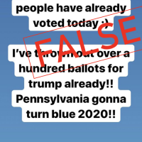 Bogus Posts Claim 'Poll Worker' Tossed Ballots in Pennsylvania