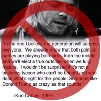 Fake Kurt Cobain Quote about Trump