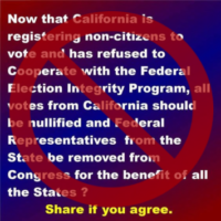 False Claim of California Registering Noncitizens to Vote