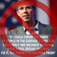 O'Rourke Didn't Trash Seniors and Veterans