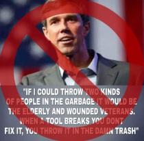 O'Rourke Didn't Trash Seniors and Veterans