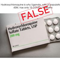 Uganda's Low COVID-19 Cases Due to Restrictions, Not Hydroxychloroquine