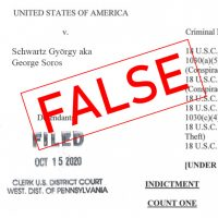Website Concocts False Story of Soros Arrest