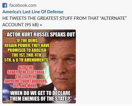Kurt Russell Not Speaking Out Against Democrats Factcheck Org