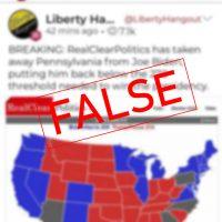 Falsehood Tells of Withdrawn Pennsylvania Projection