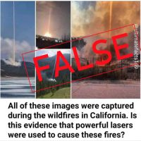 Meme Recycles Conspiracy Theory on California Wildfires
