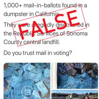 Photos of Recycled Election Materials in California Prompt False Claim